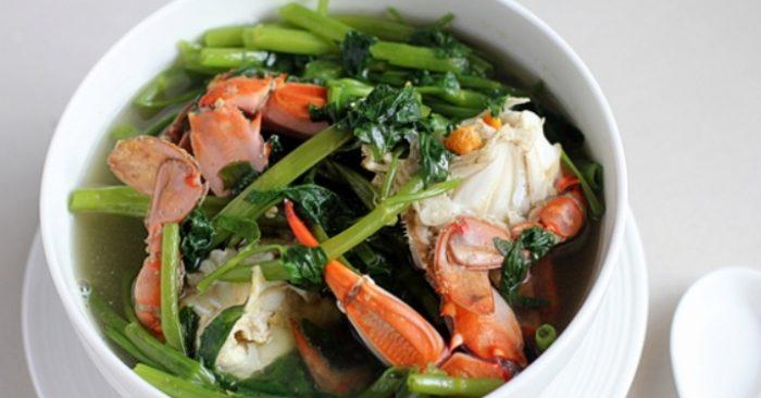 cách nấu cua biển, hầm bí đao, cho bà bầu, tốt cho sức khỏe, phục hồi sức khỏe, đầy đủ dinh dưỡng.