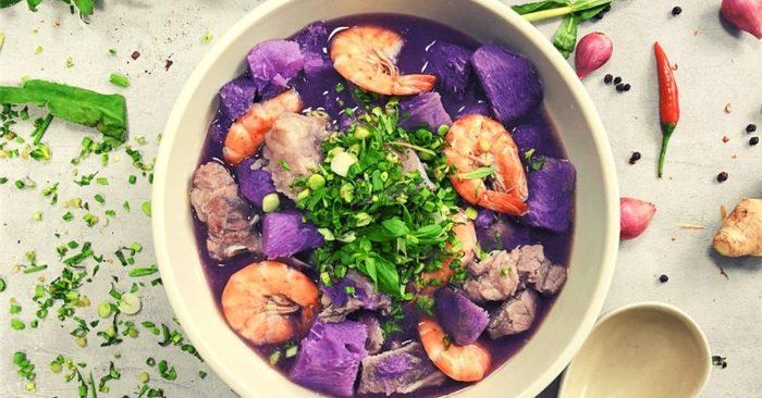 cách nấu canh khoai mỡ tôm tươi, chuẩn 5 sao, bắt cơm, chế biến món ăn, coi nau an, dễ làm, cơm.