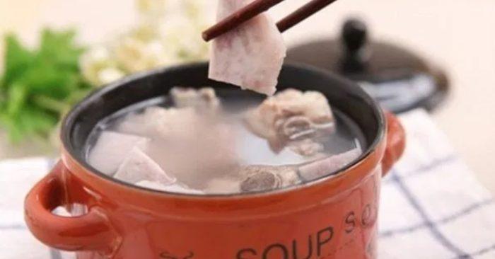 khoai môn hấp tôm thịt, hấp nước cốt dừa, hầm chân giò, hầm gà, hấp thịt, sáp vàng, tu nau an.
