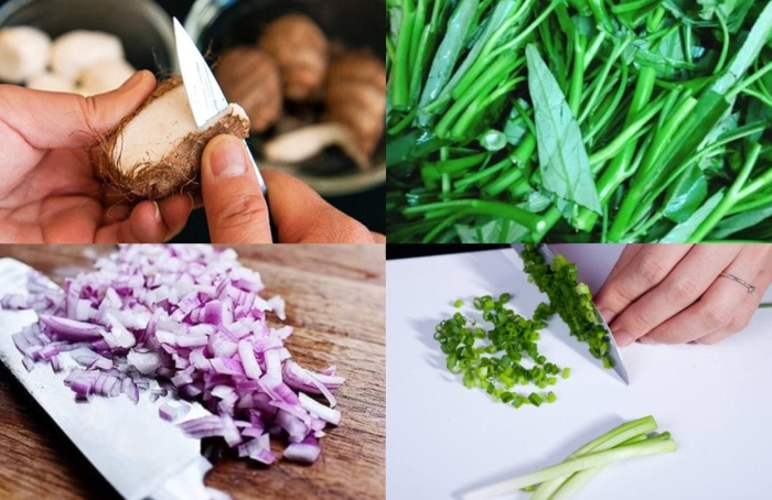 Các món ăn vặt từ khoai sọ, cá nấu. măng chua, me, hương vị, việt nam, đậm đà, bữa ăn, gia đình.