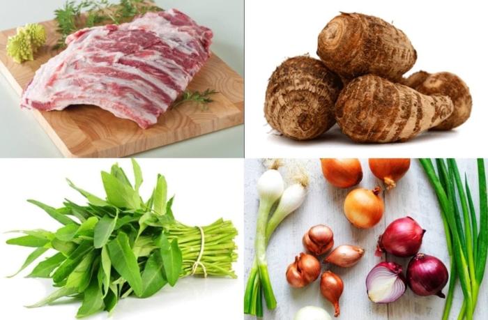 Cách nấu canh khoai sọ chay, hình ảnh, ung dung day nau an, bí kíp, trang, cach nau com ngon,