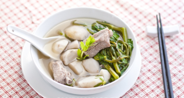 Cách nấu canh khoai sọ rau muống thơm ngon bổ dưỡng cho gia đình, đãi khách, dẽo, dễ làm, nhanh.
