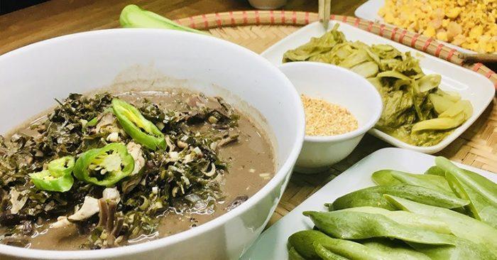 Cách nấu canh lá đắng với lòng lợn đặc sản của người Thanh Hóa, chuẩn vị, chuẩn vị, bữa cơm.