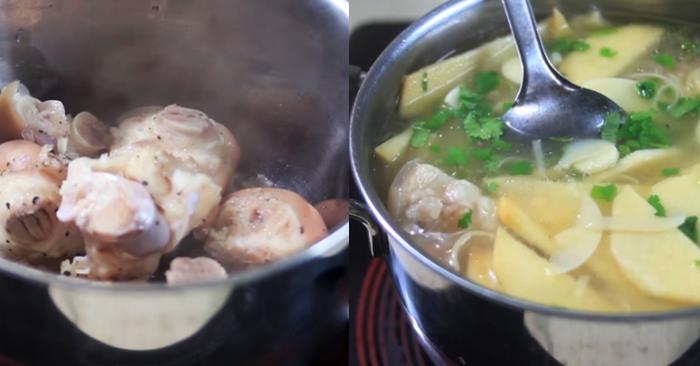 Chân giò nấu măng, an hang ngay, đơn giản, day nau an nhung mon don gian, cach lam, chuẩn bị.