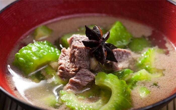 Cách nấu canh khổ qua không thịt, công thức nấu ăn bằng tiếng anh, so tay nau an, mon ngon viet.