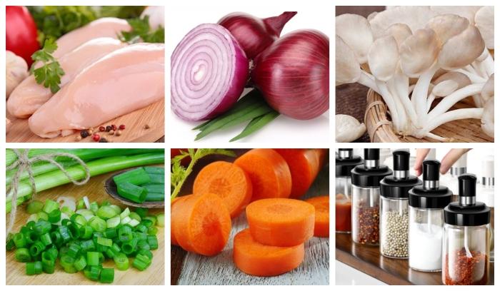 Nấu canh nấm kim châm; chay; thịt băm; thập cẩm; mọc; hải sản; hương; xương; rơm; nau gi ngon;