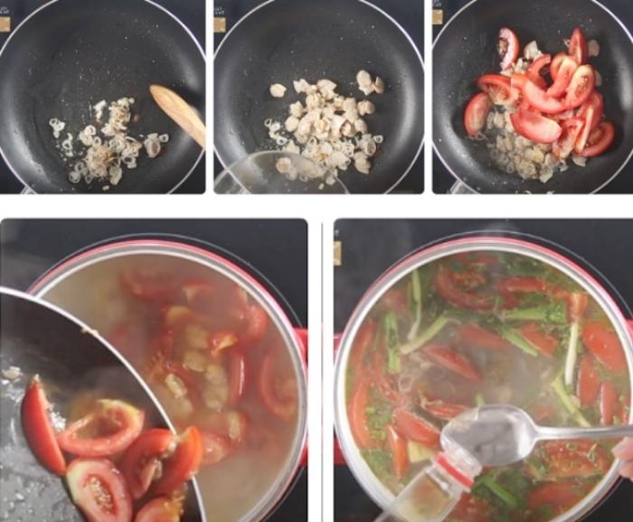 Chế biến nghêu cà chua; hương vị; cùng với; thuyết minh; ngon miệng; bí quyết; mẹo chọn; nhà làm;