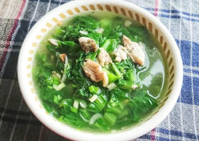 Nấu canh cá rô rau cải; phi; đồng Thái bình; bánh đa; rau ngót; hẹ; chua; ăn sáng; cong thuc nau;