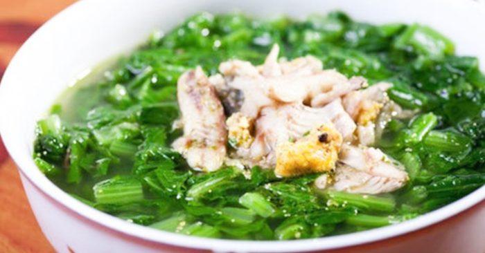 Cách nấu canh cải; cá rô; món ăn; bổ dưỡng; đơn giản; chuẩn vị; thơm ngon; đậm vị; nhà làm; bí kíp;