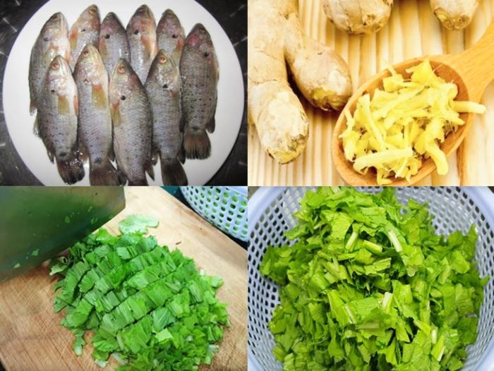Cách nấu canh cải cá rô đồng ngon ngọt và không bị tanh; Nguyên liệu; cho bà bầu; thực đơn ngon;