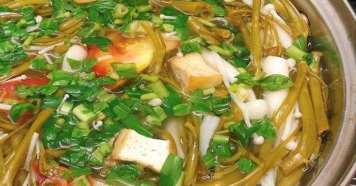 Cách nấu canh chua rau muống thịt bò; sinh viên; làm đồ ăn vặt; hương vị; mỗi ngày; món ăn ngon.