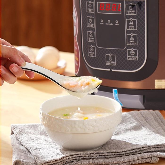 cách nấu cháo bằng nồi áp suất điện, nấu chè đậu, nhanh, mềm, dễ làm, đơn giản, sườn sụn, nhừ.