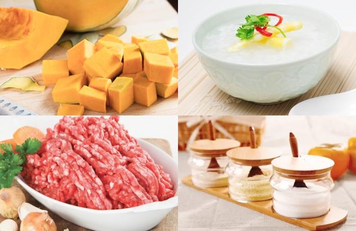 Cách làm cháo bí đỏ; thịt bằm; đơn giản tại nhà; đậm đà hương vị; bớt chua; sơ chế; hấp dẫn;