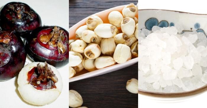 Cách nấu chè hạt sen củ năng củ sen; công thức; dễ làm; hàng ngày; lạ miệng; mon an hang ngay; ngon.