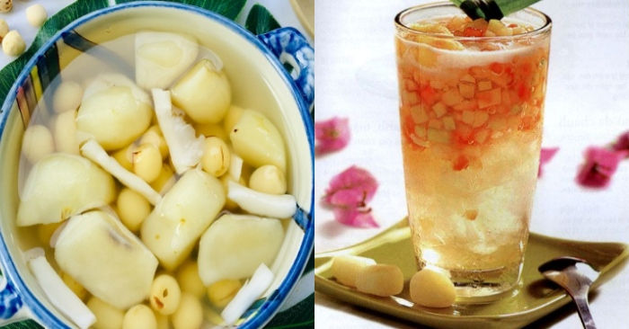 Cách nấu chè củ năng hạt sen giòn ngọt thanh mát giải nhiệt tốt; huong dan nau don gian; sach nau.