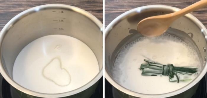 cách làm sữa cốt dừa, sen đậu, thạch, hạt sen, non, hạt, ngô, các phương pháp chế biến, nau an that.