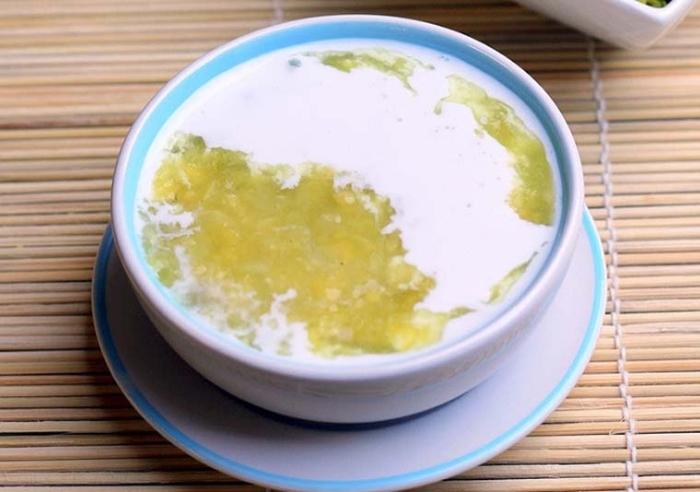 nấu chè đậu xanh bột báng, nước cốt dừa, ngon miệng dễ làm, Menu, các món ,độc lạ, hot hiện này.