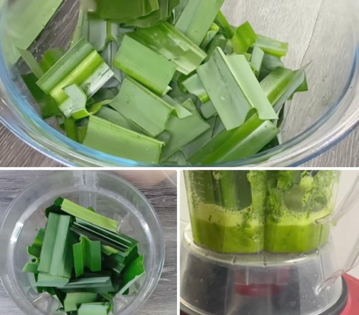 Cách nấu chè dừa non lá nếp; dầm đơn giản tại nhà; Thái Lan, hình ảnh; đậu xanh; thơm ngon;