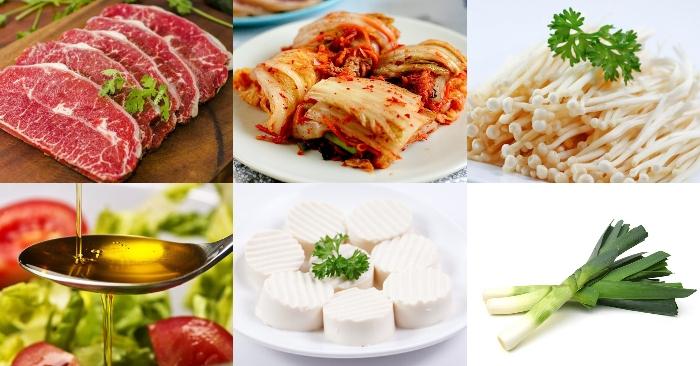 Cách nấu canh kim chi thịt bò với đậu phụ chuẩn vị Hàn Quốc, cách làm món, cac mon, an de lam.
