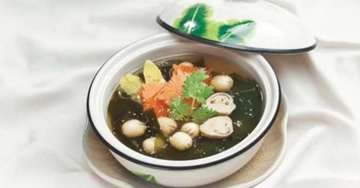 Hướng dẫn cách nấu canh rong biển chay ngon miệng mà không tanh; đậu hũ; khô; chua; hạt sen; nấu ăn.