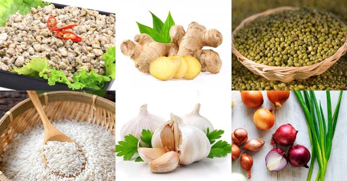 Hướng dẫn những cách nấu cháo hến ngon cho cả gia đình, nấm rơm, Huế, đậu xanh, nghêu, cho be