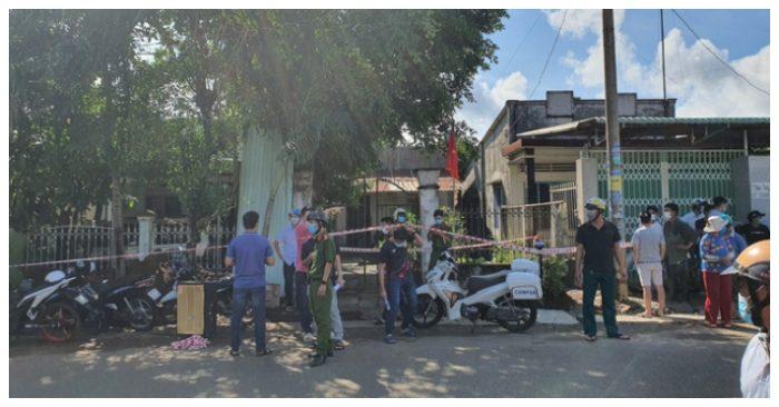 Hiện trường xảy ra vụ án tại thôn Quảng Thành 1, xã Nghĩa Thành, huyện Châu Đức