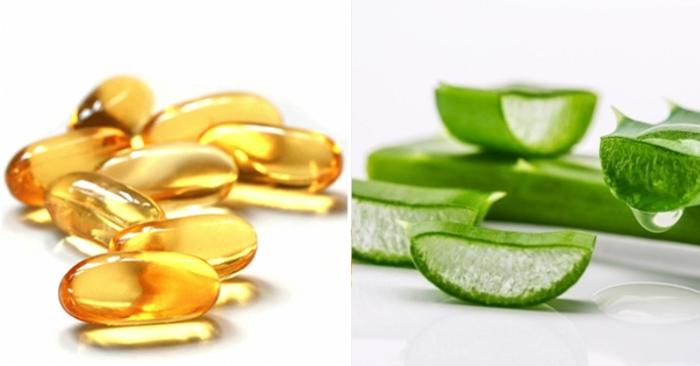 Các dưỡng chất trong nha đam và vitamin E giúp da khỏe, sáng mịn hạn chế sự lão hóa da