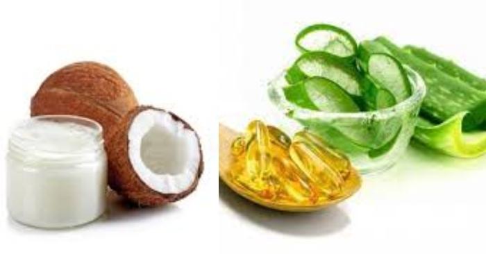 mặt nạ nha đam, vitamin E, dầu dừa có tác dụng tuyệt vời cho làn da phái đẹp.