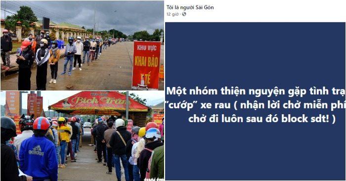 Hàng chục nghìn người từ Sài Gòn, Đồng Nai, Bình Dương đổ về Tây Nguyên; xe rau từ thiện bị cướp