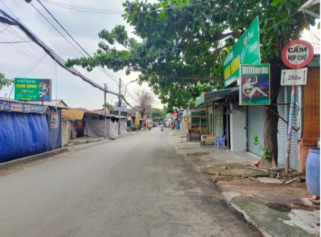 Đoạn đường một bên thuộc TP.HCM, bên còn lại của tỉnh Bình Dương
