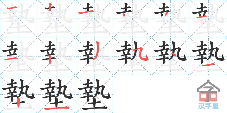 Học từ vựng tiếng Trung có trong sách Chuyển Pháp Luân - chữ điếm; học tiếng trung; học tiếng trung; từ vựng tiếng trung; học tiếng trung cơ bản