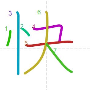 Học từ vựng tiếng Trung có trong sách Chuyển Pháp Luân - chữ khoái; học tiếng trung; học tiếng trung; từ vựng tiếng trung; học tiếng trung cơ bản